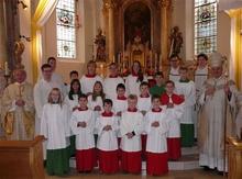 Die neuen Ministranten der Pfarrkirche St. Stephan
