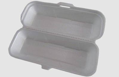 Eine Styroporbox für Lebensmittel